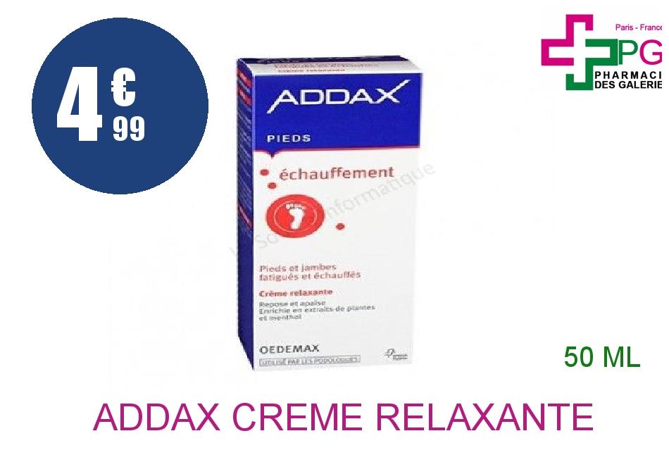 Achetez ADDAX Crème relaxante pieds Tube de 50ml