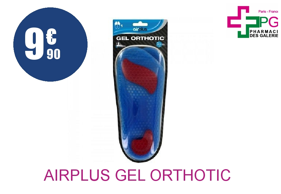 Achetez AIRPLUS GEL ORTHOTIC Semelle gel homme Paire