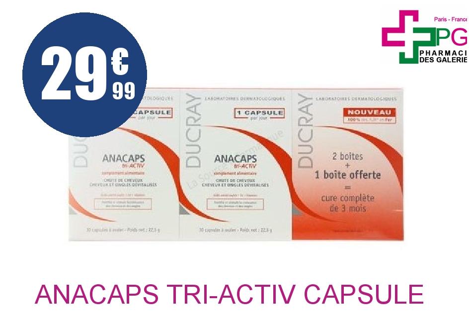 Achetez ANACAPS TRI-ACTIV Capsule 3 Boîte de 30