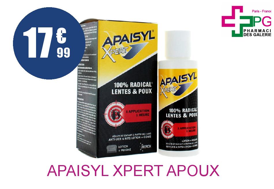 Achetez APAISYL XPERT A/POUX A/LENTE 250ML