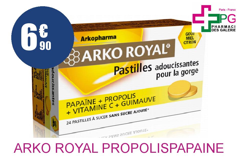 Achetez ARKO ROYAL PROPOLIS+PAPAINE Pastille ADOUCISSANTE GORGE Boîte de 20