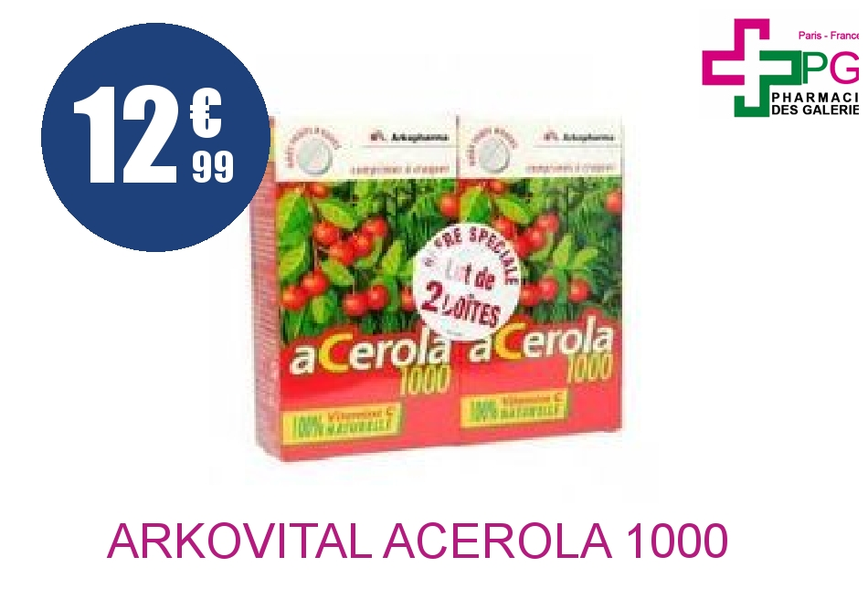 ARKOVITAL ACEROLA 1000 Comprimé à croquer 2 Boîte de 30