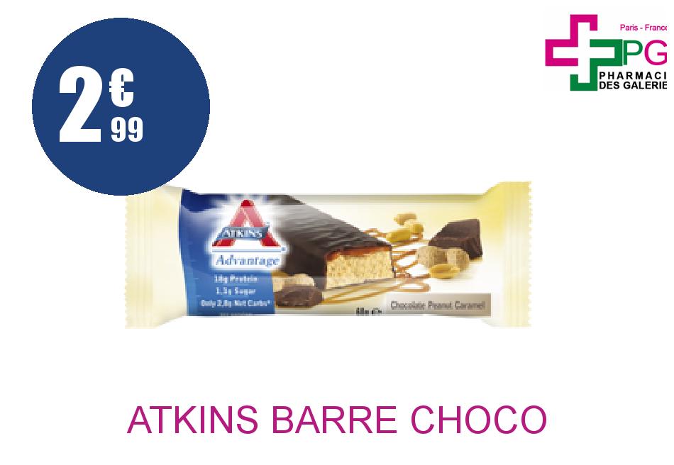 Achetez ATKINS BARRE CHOCO PEANUT CARAMEL
