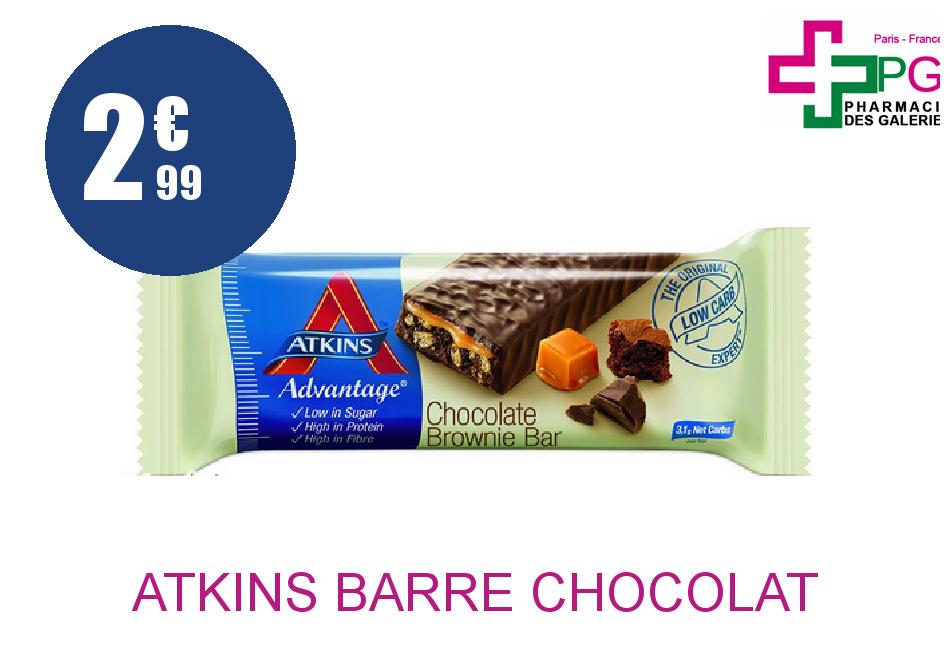 Achetez ATKINS BARRE CHOCOLAT BROWNIE