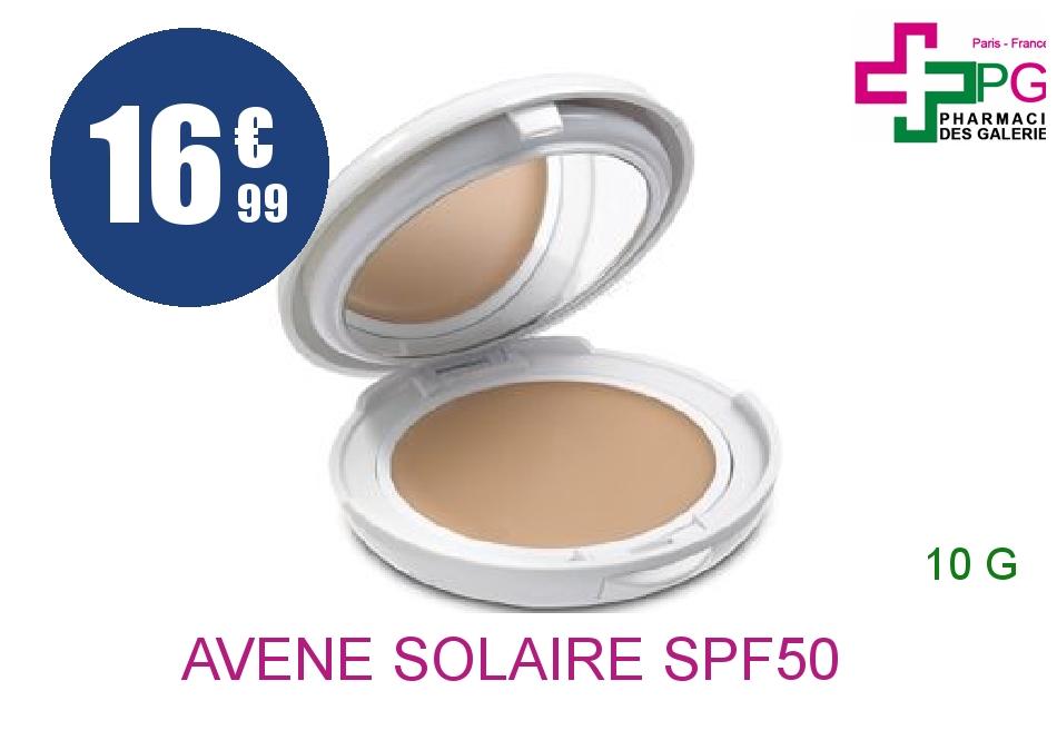 Achetez AVENE SOLAIRE SPF50 Crème compact haute protection teinté doré Boîtier de 10g