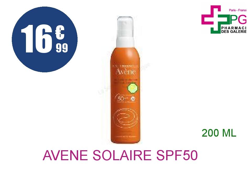 Achetez AVENE SOLAIRE SPF50+ Spray très haute protection Flacon de 200ml