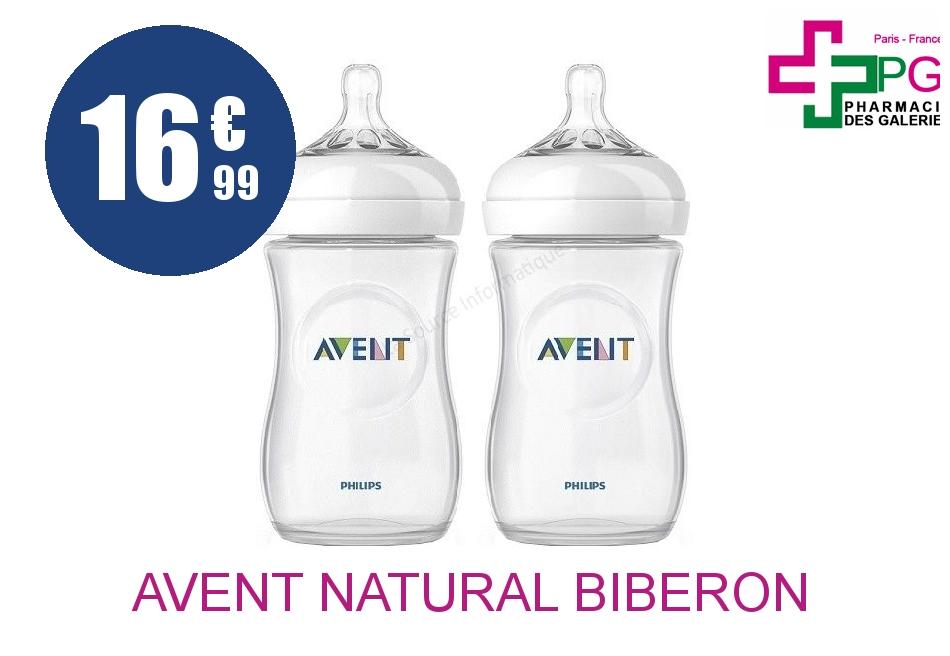 Achetez AVENT NATURAL Biberon polypropylène 260ml Boîte de 2