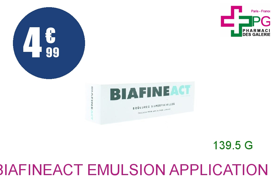 BIAFINEACT Emulsion Application Cutanée 1 Tube de 139,5g