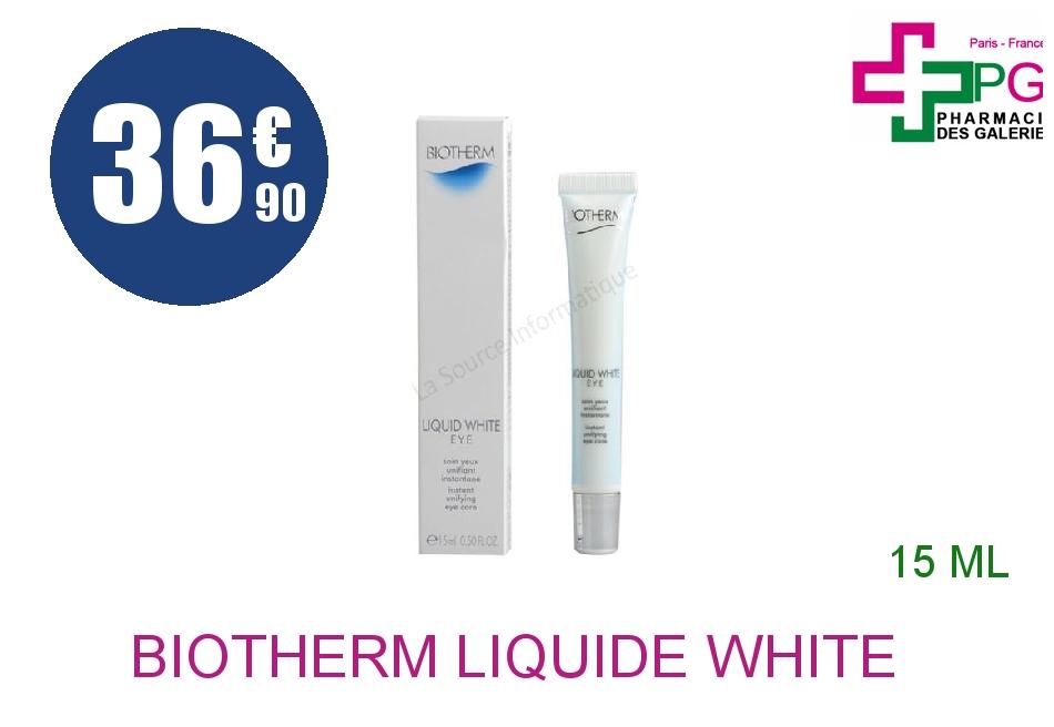 Achetez BIOTHERM LIQUIDE WHITE Crème yeux Tube de 15ml