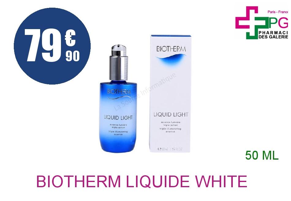 Achetez BIOTHERM LIQUIDE WHITE Essence sérum Flacon Pompe de 50ml