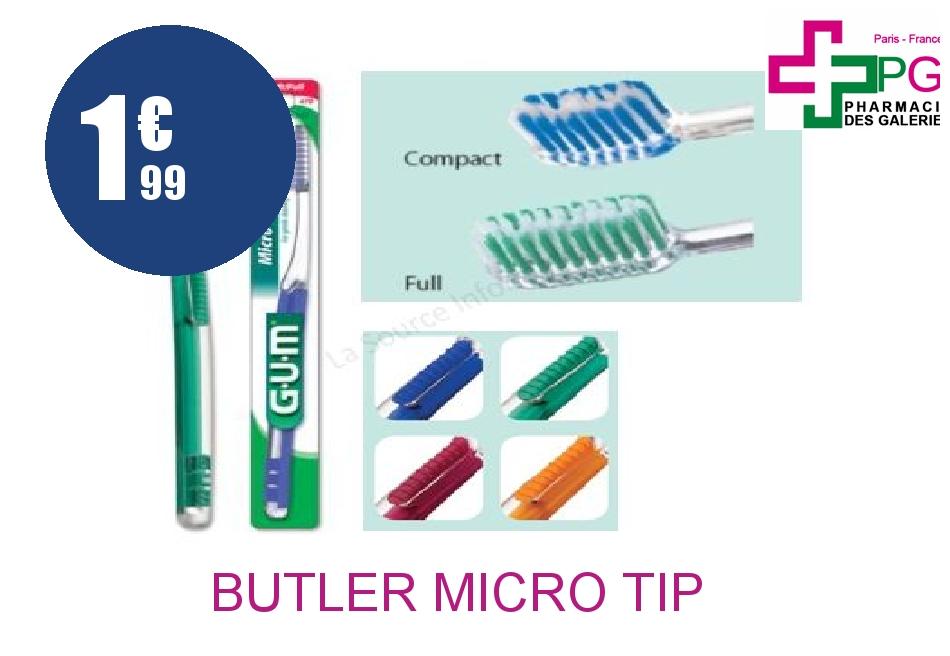 Achetez BUTLER MICRO TIP 471 Brosse dents compact soft