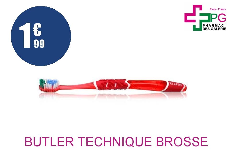 Achetez BUTLER TECHNIQUE Brosse dents tête grande médium
