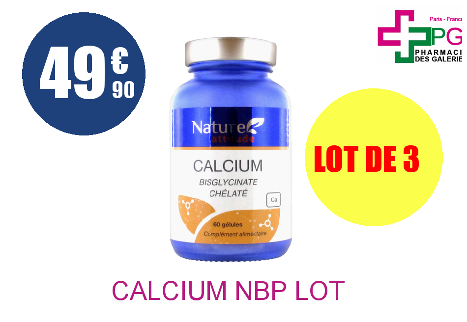CALCIUM NBP Lot de 3