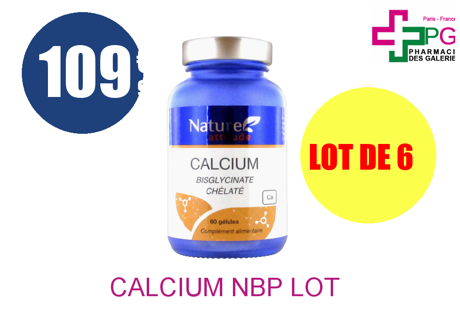 CALCIUM NBP Lot de 6