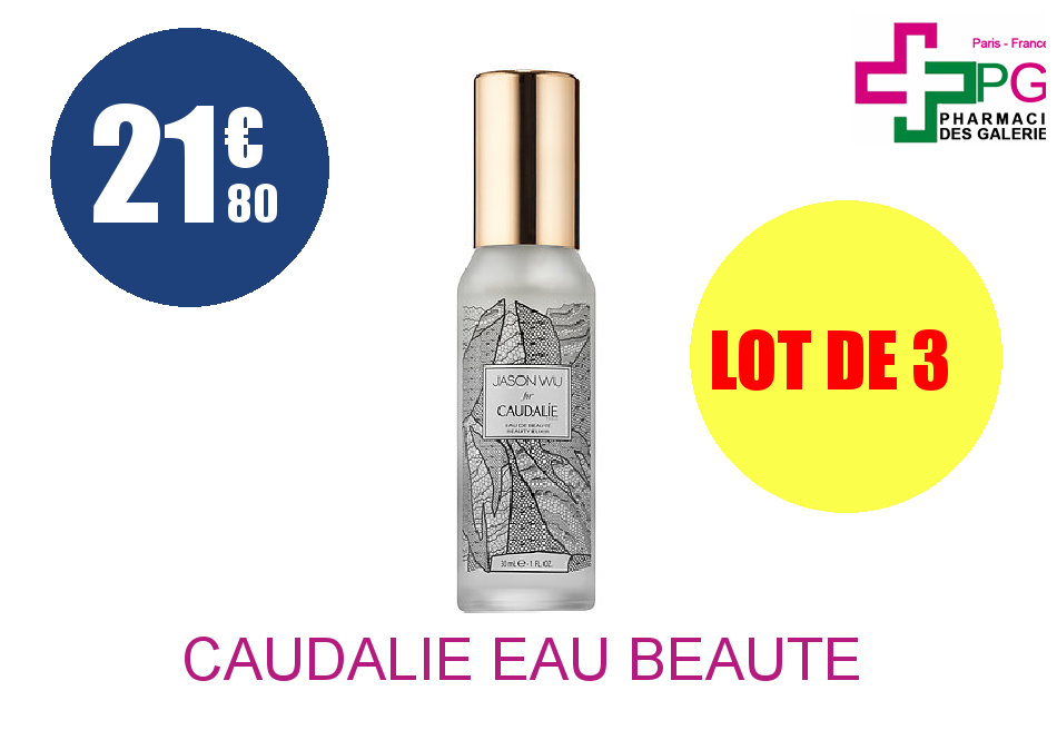 CAUDALIE EAU BEAUTE JASON 30 Lot de 3