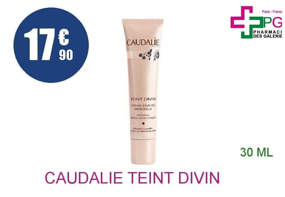 Achetez CAUDALIE TEINT DIVIN Crème peau claire teintée Tube de 30ml