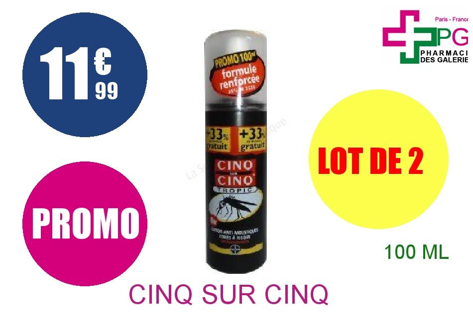 Achetez CINQ SUR CINQ TROPIC Lot anti-moustique Spray de 100ml Lot de 2