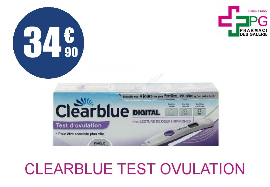 Achetez CLEARBLUE Test d'ovulation 2 hormones Boîte de 10