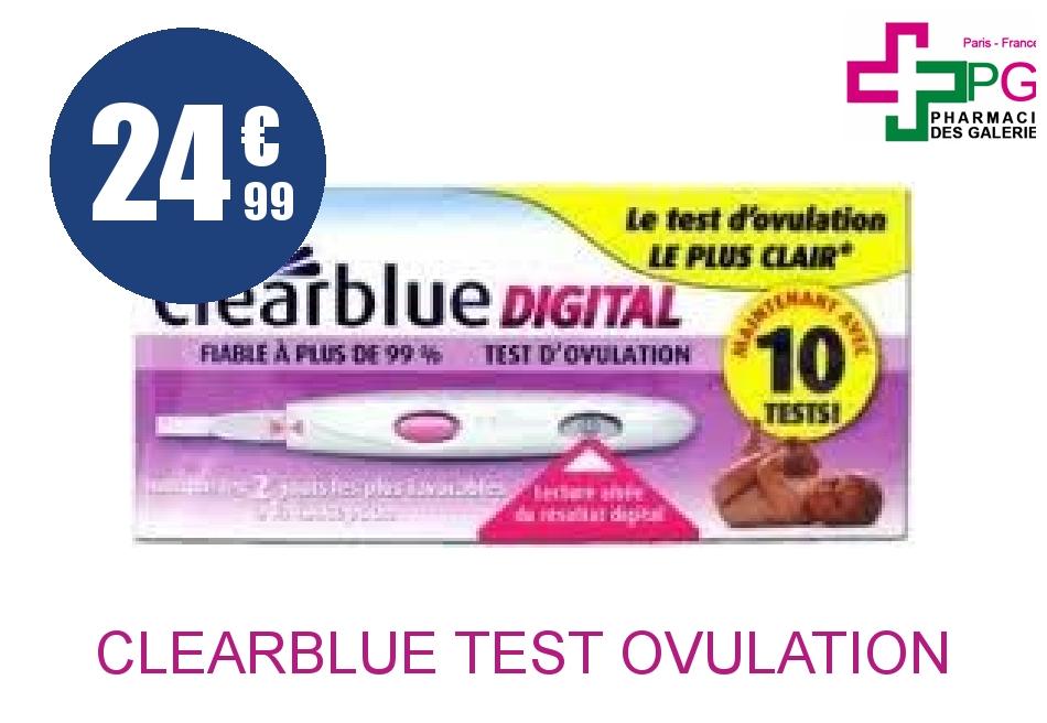 Achetez CLEARBLUE Test d'ovulation Boîte de 10