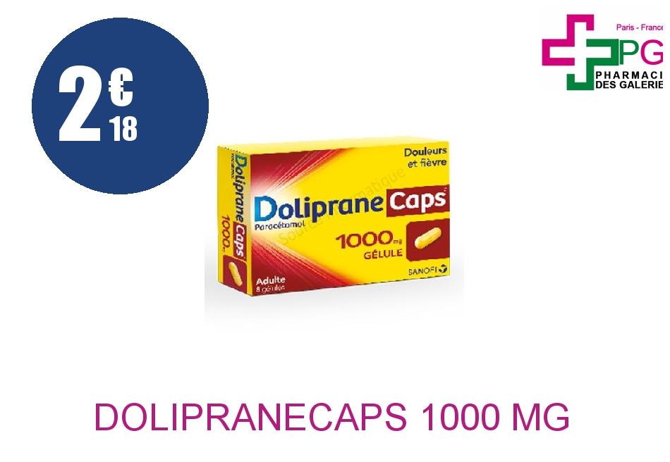 DOLIPRANECAPS 1000 mg Gélule Plaquette de 8