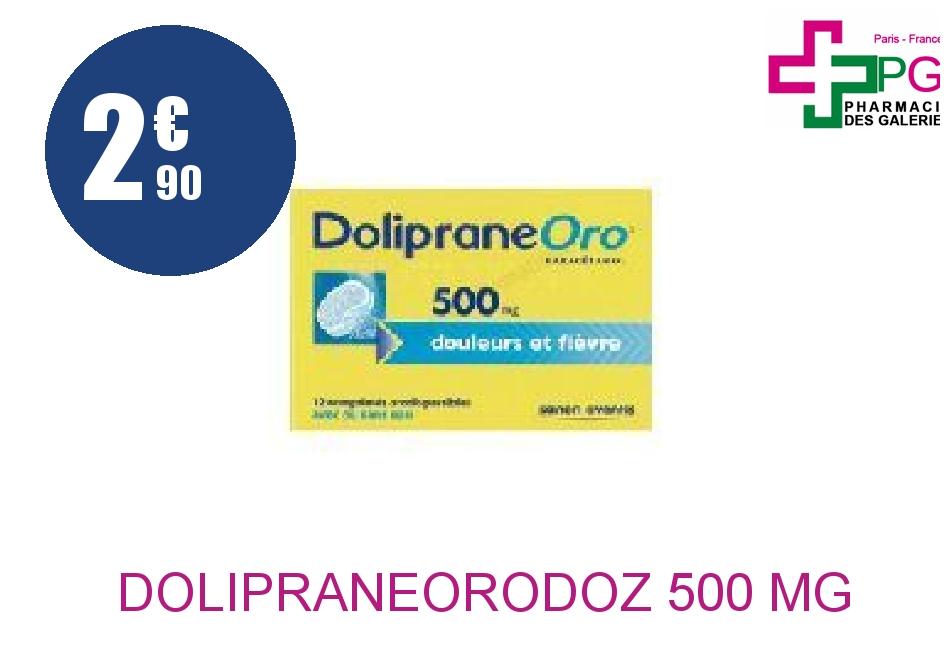DOLIPRANEORODOZ 500 mg Comprimé Orodispersible Plaquette de 12