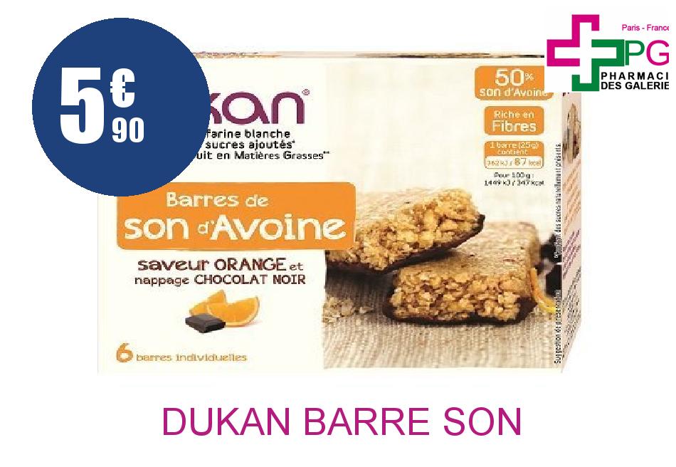 Achetez DUKAN Barre son d'avoine chocolat orange Boîte de 6