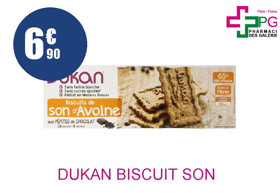Achetez DUKAN Biscuit son d'avoine pépites de chocolat 6 Sachet de 3