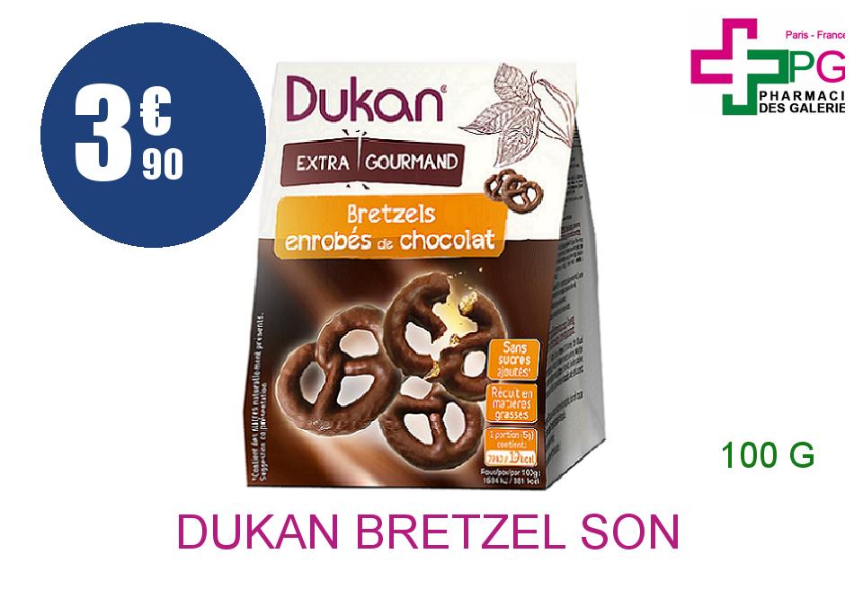 Achetez DUKAN Bretzel son d'avoine nappé chocolat Sachet de 100g