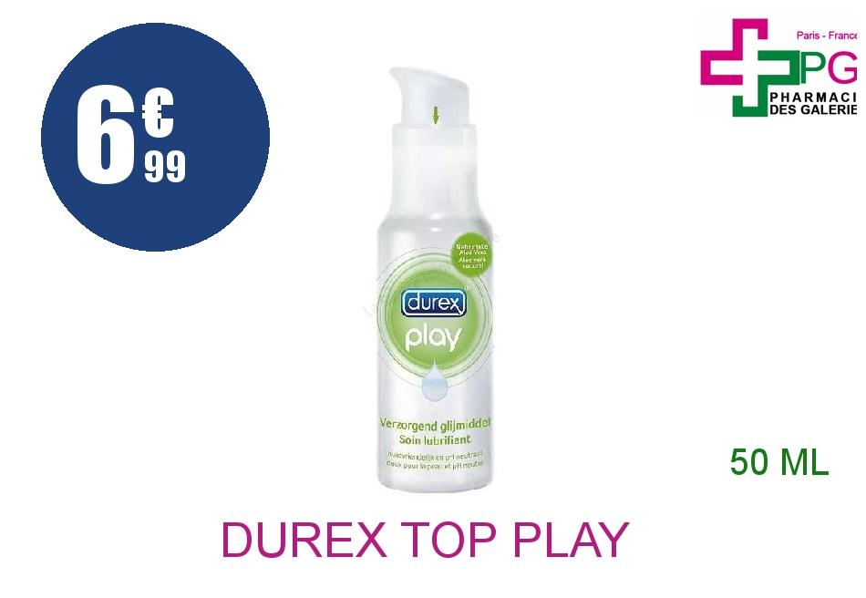 Achetez DUREX TOP PLAY Gel lubrifiant extra douceur Tube de 50ml