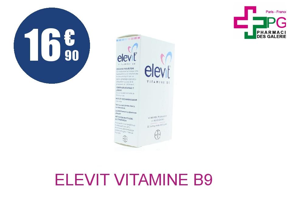 Achetez ELEVIT Vitamine B9 Comprimé Pelliculé Plaquette de 30