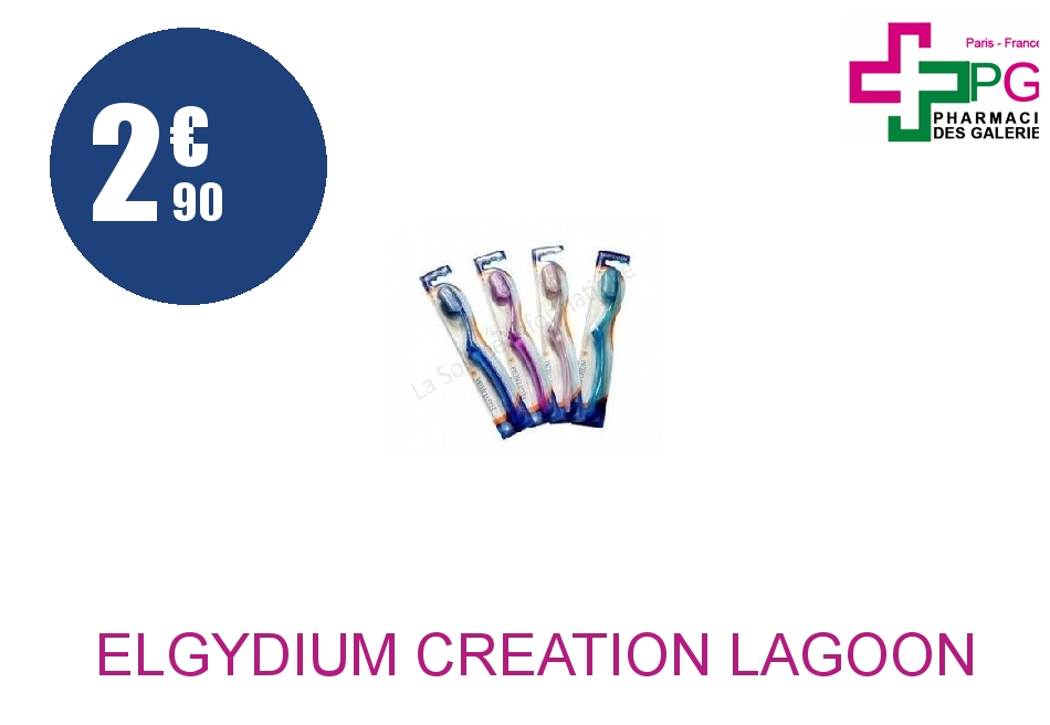 Achetez ELGYDIUM CREATION LAGOON Brosse dents médium