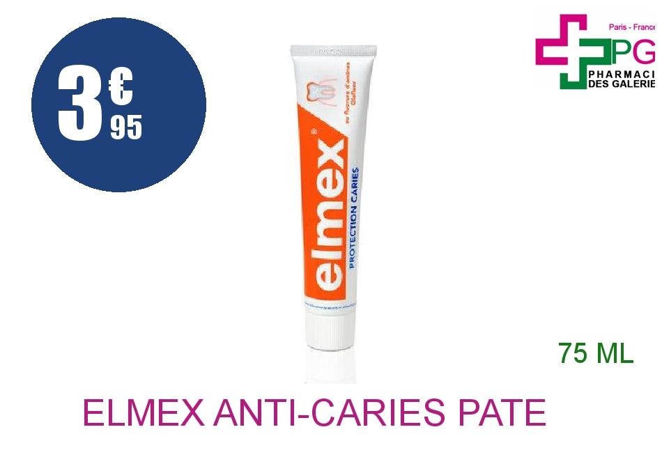 Achetez ELMEX ANTI-CARIES Pâte dentifrice Tube de 75ml