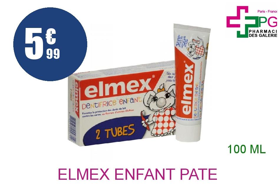 ELMEX ENFANT Pâte dentifrice dent de lait 2 Tube de 50ml