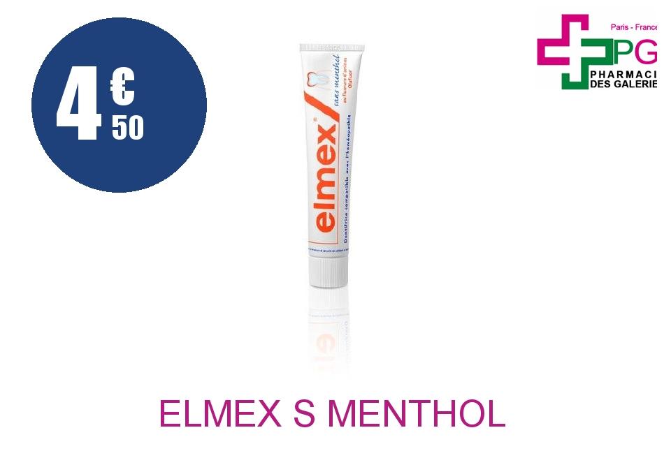 Achetez ELMEX S MENTHOL 75ML