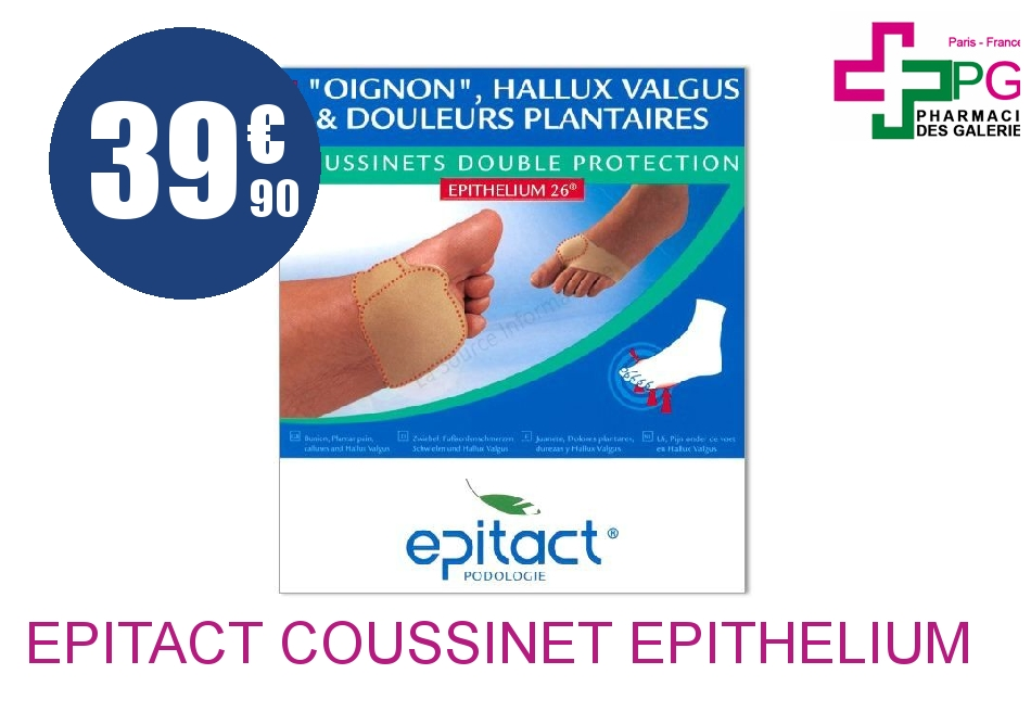 Achetez EPITACT Coussinet Epithelium 27 double protection PM 10cm