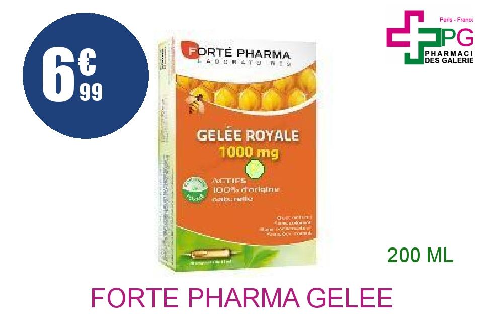 Achetez FORTE PHARMA Gelée royale 1000 mg Solution Buvable 20 Ampoule de 10ml