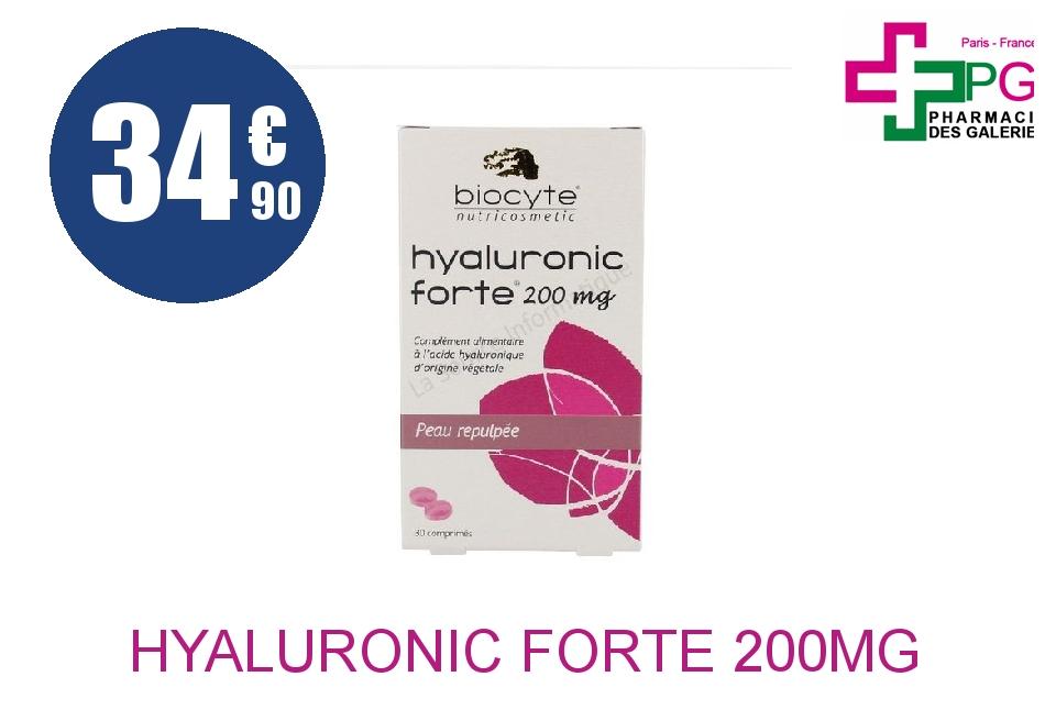 Achetez HYALURONIC FORTE 200mg Comprimé Boîte de 30