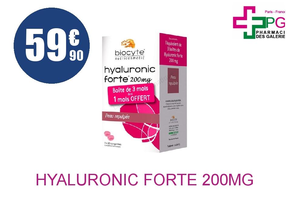 Achetez HYALURONIC FORTE 200mg Comprimé 3 Boîte de 30