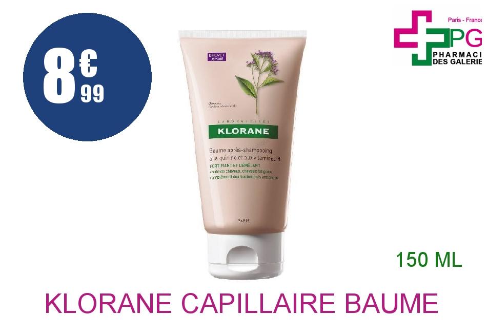 Achetez KLORANE CAPILLAIRE Baume fortifiant Quinine Tube de 150ml