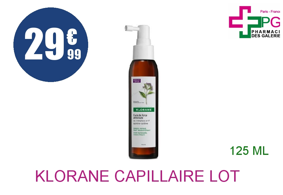 Achetez KLORANE CAPILLAIRE Lot cure de force anti-chute Spray de 125ml