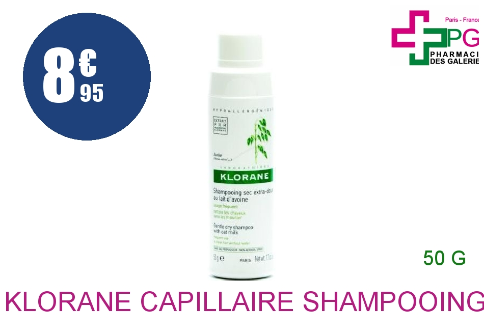Achetez KLORANE CAPILLAIRE Shampooing sec Avoine Rotopoudre de 50g
