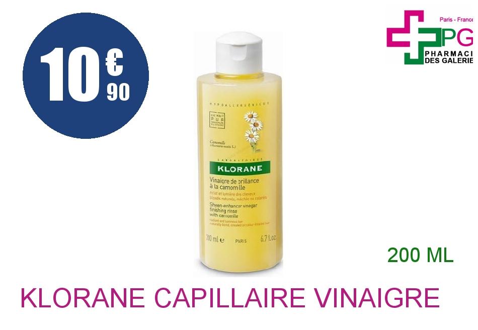 Achetez KLORANE CAPILLAIRE Vinaigre de brillance Camomille Flacon de 200ml
