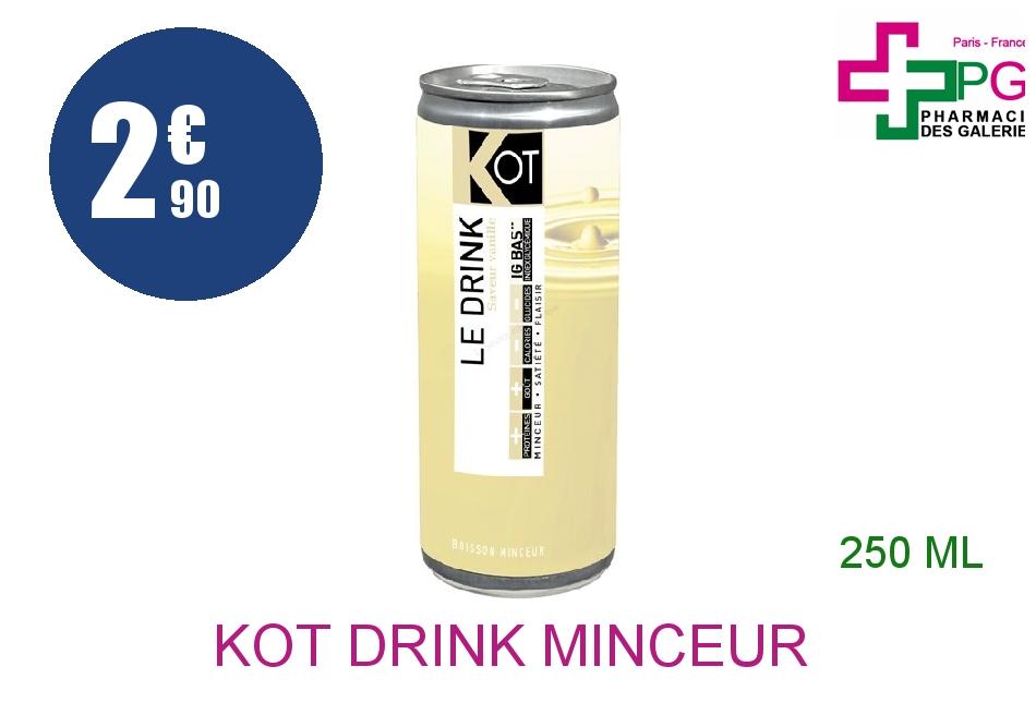 Achetez KOT DRINK MINCEUR Boisson vanille Canette de 250ml