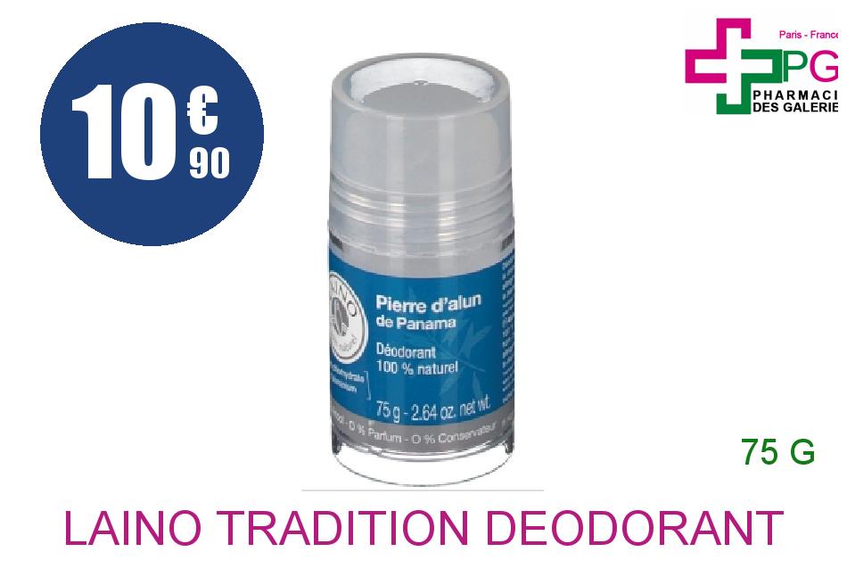 Achetez LAINO TRADITION Déodorant Pierre d'Alun de Panama Stick de 75g