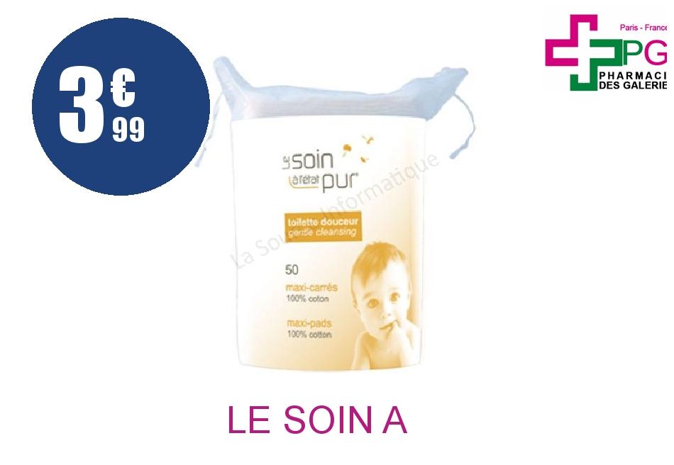 Achetez LE SOIN A L'ETAT PUR Carré maxi bébé Sachet de 50