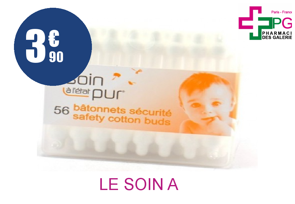 Achetez LE SOIN A L'ETAT PUR Bâtonnet sécurité bébé Boîte de 56