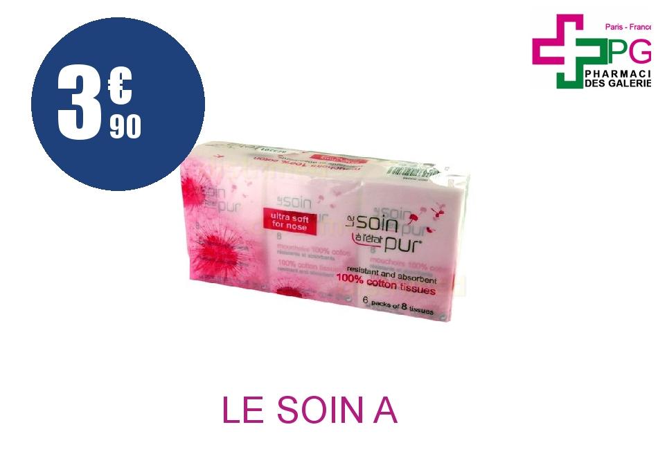 Achetez LE SOIN A L'ETAT PUR Mouchoir NT coton Pack de 6x8