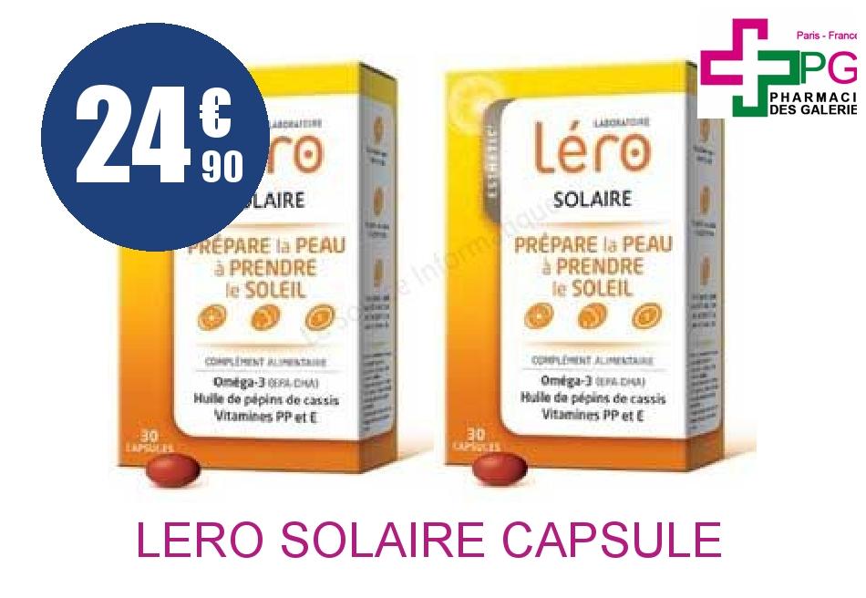 Achetez LERO SOLAIRE Capsule 2 Boîte de 30