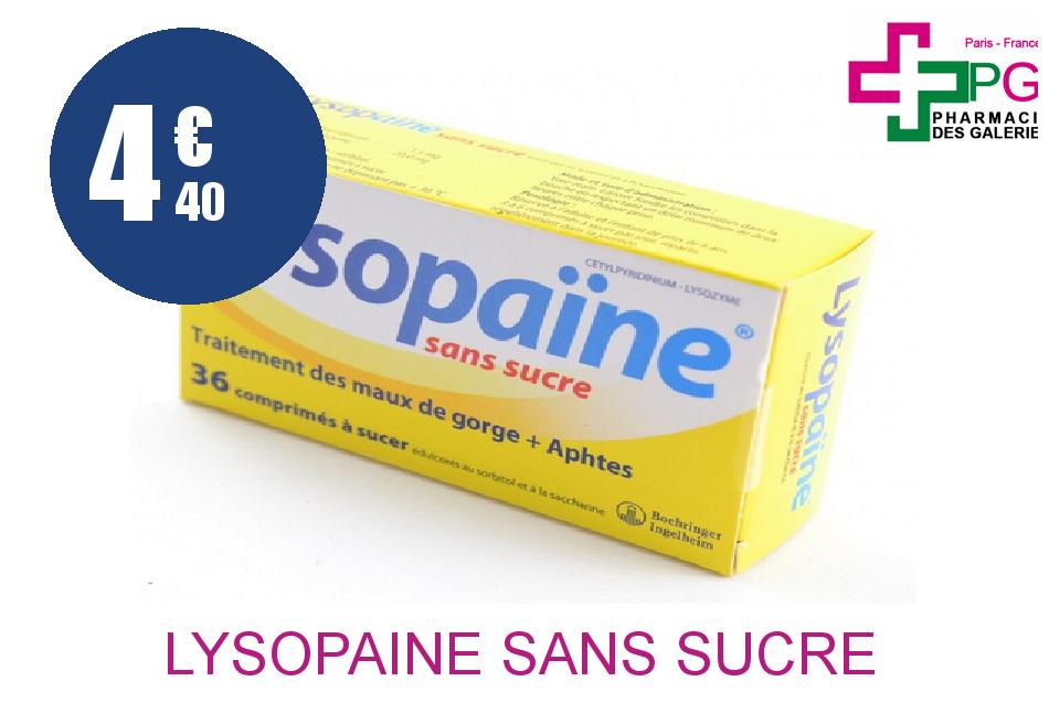 Achetez LYSOPAINE SANS SUCRE Comprimé à sucer 2 Tube de 20