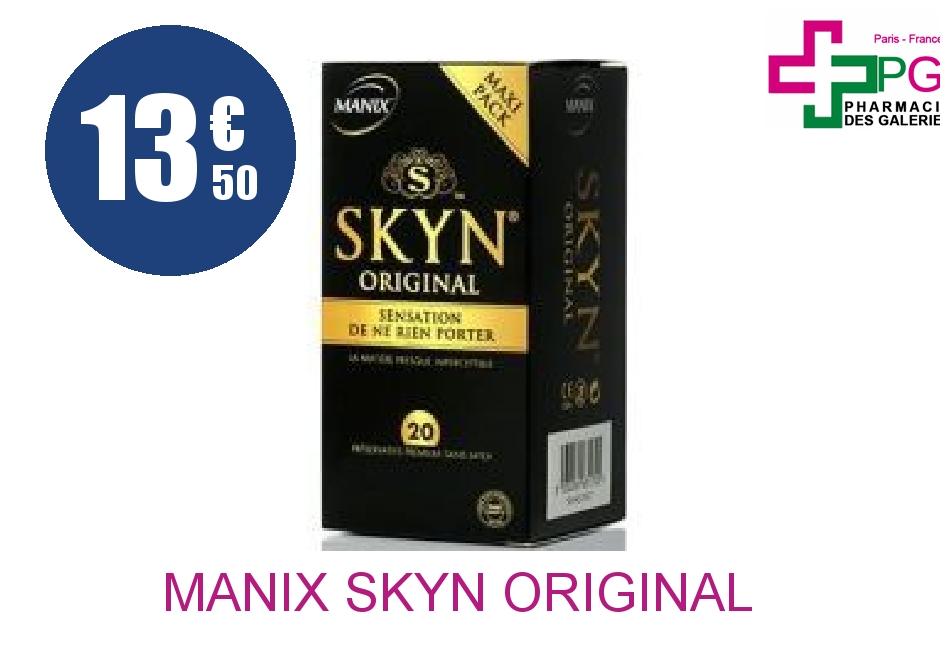 Achetez MANIX SKYN ORIGINAL Préservatif Boîte de 20